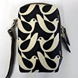 Orla Kiely Compact Camera Case - Birdwatch Cream & Navy