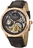 Stuhrling Original Men's 571.3345K54 Classic Winchester Tempest II Automatic Skeleton Dual Time Zone Rose Tone Watch
