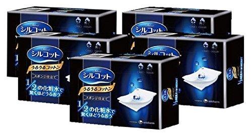 unicharm-silcot-uruuru-sponge-facial-cotton-40-sheets-5-packs-by-unicharm