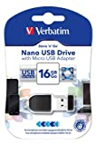 Verbatim Store 'n' Go Nano 16GB USB 2.0 Drive with Micro USB Adapter
