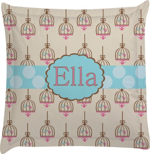 Kissing Birds Personalized Euro Sham Pillow Case front-822246