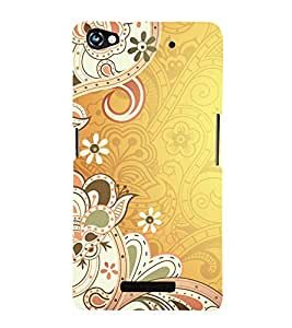 printtech Abstract Ethnic Pattern Back Case Cover for Micromax Canvas Hue 2 A316
