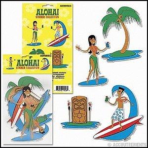 Stickers Aloha Hula Surfer