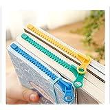 3pcs Novelty Zipper Bookmark Page Marker for Book (Color: Blue Green Yellow, Tamaño: 3pcs zipmark)