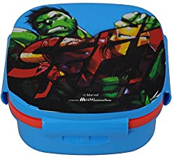 Marvel Avengers Insulated Hot Case Lunch Box, 600 ml, Blue