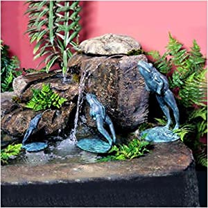 """Leaping Frog Fountain Size: Small (7.5"""" H)"""