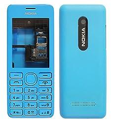 Nokia Asha 206 Replacement Body Housing Front & Back Original Panel - Blue