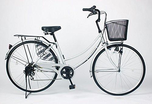 21Technology 26インチ自転車ママチャリ MC266 シマノ製6段ギア付き (シルバー)