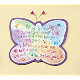 Abbey Press Be A Butterfly Shaped Plaque - Inspiration Faith Blessing Spirit 36605-ABBEY
