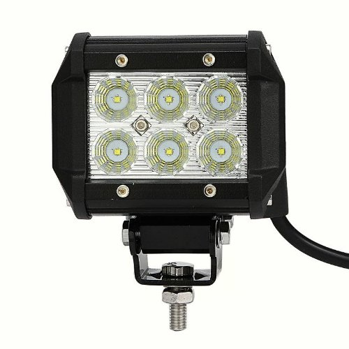 18W Cree Led Work Light 4 Inch Flood Beam 60 Degree Off-Road Truck Car Atv Suv Jeep Boat Ip67 With Mounting Brackets Screws