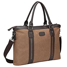 Bagerly Classic Business Handbags, Casual Messenger Shoulder Crossbody Bags Laptop Backpacks