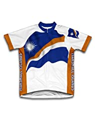 Marshall Islands Flag Short Sleeve Cycling Jersey for Women