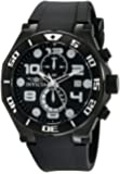 Invicta Pro Diver Men's Quartz Watch with Black Dial  Chronograph display on Black Pu Strap 15397