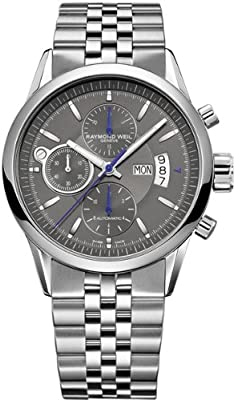 Raymond Weil Freelancer Grey Dial Stainless Steel Mens Watch 7730-ST-60021