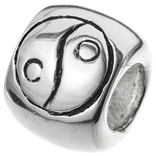 Sterling Silver Chinese Ying Yang Bead Charm for European Style Charm Bracelets