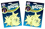 The Original Glowstars Company Cosmic Glow Moon and Stars (Pack of 2)