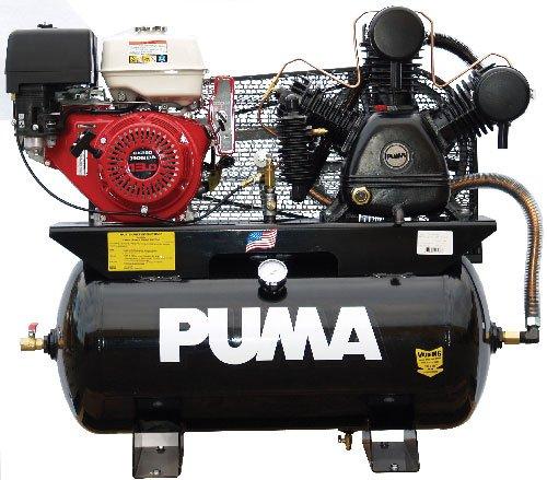 Puma Air Compressors TUK-13030HGE Honda GX390 Recoil/Electric Start Engine, 13 hp, 30 gal (Gas Air Compressor 30 Gallon compare prices)
