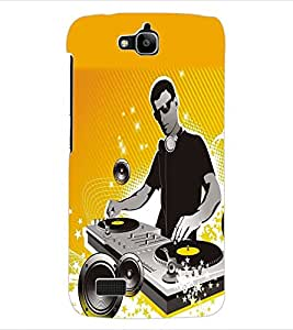 ColourCraft DJ Back Case Cover for HUAWEI HONOR HOLLY
