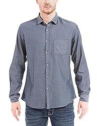 Shuffle Men's Casual Shirt (8907423019119_2021515601_X-Large_Blue)