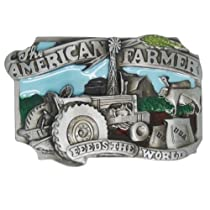 Little Hand The American Farmer Feeds The World Mens Boys Belt Buckles