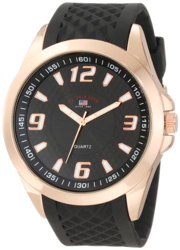 U.S. Polo Assn. Sport Men's US9122 Black Textured