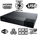【日本語メニュー】SONY BDP-S3700 リージョンフリーDVD・ブルーレイ プレーヤー 【Wi-fi機能・ファームアップ対応モデル・PAL/NTSC対応・リージョンフリー済・電圧世界対応】HDMIケーブルセット (並行輸入品)