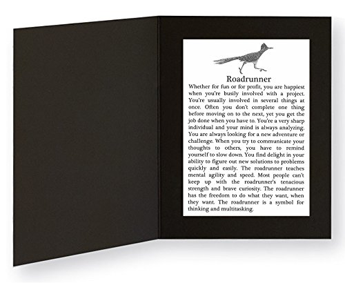 roadrunner-with-power-animal-message-in-5x7-picture-folder-frame