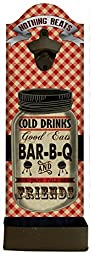 Cold Drinks Good Eats Bar-B-Q Wall Mounted Bottle Opener