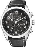 Citizen Herren-Armbanduhr XL Analog Quarz Leder AT8011-04E