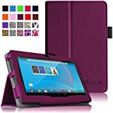"Fintie Chromo 7"" Tablet Folio Case Cover - Premium Leather With Stylus Holder for Chromo Inc 7 Inch Android Tablet - Purple"