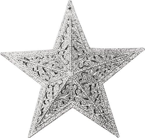 glitter star 10 1/4 inch silver