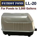 Patriot Air Pump LL-20, .8 Cubic Feet Per Minute, Pond Depth To 12 Feet