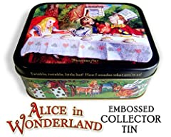 Alice in Wonderland Collector Tin Box ~ with Two Playing Card Decks ~ Package #1 ~ First Edition, limited to only 3,000