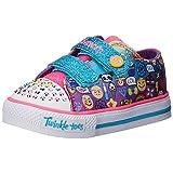 Skechers Kids Girls' Twinkle Toes-Shuffles Toddler Sneaker, Emoji Multi, 11 M US Little Kid