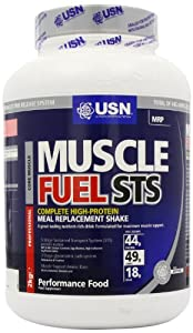 USN Muscle Fuel STS High Protein Meal Replacement Shake Powder, Strawberry - 2 kg
