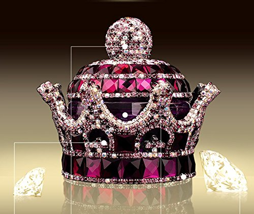Mini-Factory 3D Bling Crystal Gemstone Diamond Purple Crown Design Refillable Glass Air Freshener Perfume Bottle for Car / Home / Office Decoration (Bottle Only, Perfume NOT included) (Car Air Freshener Refillable compare prices)