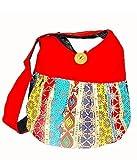 Khatri Handicrafts Traditional Jhola Bag (Red)