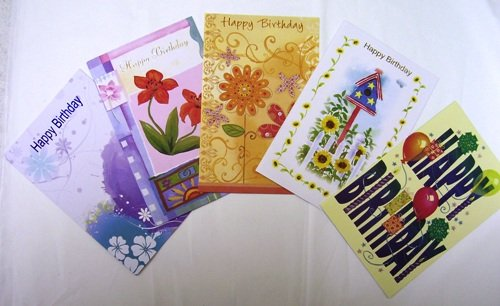 Assorted Birthday Greeting Cards 36 Pack