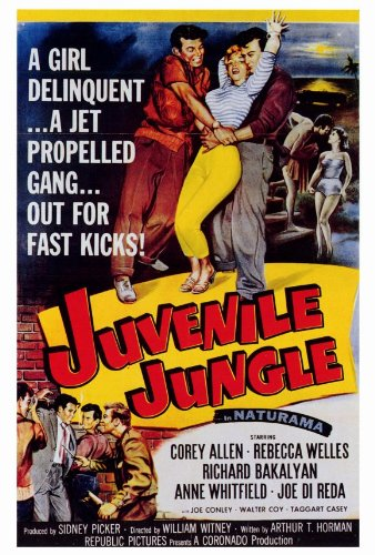 Juvenile Jungle Poster film, 69 x 102 cm Corey Allen Rebecca Welles Richard Bakalyan Anne Whitfield Joe Di Joe Conley Reda