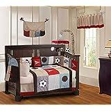 Go Team 10 Piece Baby Crib Bedding Set (Including Musical Mobile)