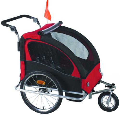 Cheapest Price! 3 in 1 Child Bicycle Trailer Stroller Baby Bike Kid Jogger Running Carrier