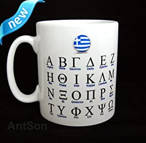 Greek Alphabet Language Reference Mug 11oz