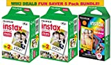 Fujifilm Instax Mini Film 5 Pack WIKI DEALS BUNDLE, 2 Instax Mini TWIN 10 Sheets x 2 packs = 40 Sheets + Instax mini RAINBOW 10 Sheets: Total 50 Sheets