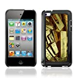 iKiki-Tech Hard Case Cover for Apple iPod Touch 4 - Gold Bars