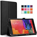Moko Samsung Galaxy Tab PRO 8.4 Case - Slim Folding Cover Case for Galaxy TabPRO 8.4 Android Tablet, BLACK (With Smart Cover Auto Wake / Sleep. WILL NOT Fit Samsung Galaxy Tab 4 8.0)