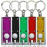 10 x Schlüsselanhänger Mini Taschenlampe Lampe 6 cm