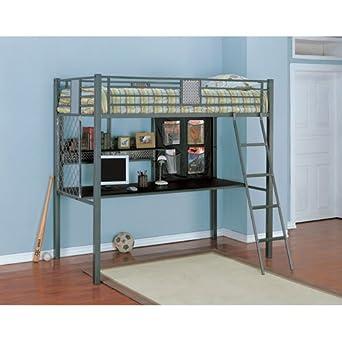 Powell 500-119 Monster room Twin Study Loft Bunk Bed