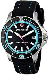 Wenger Women's 01.0621.105 Sea Force 3H Analog Display Swiss Quartz Black Watch