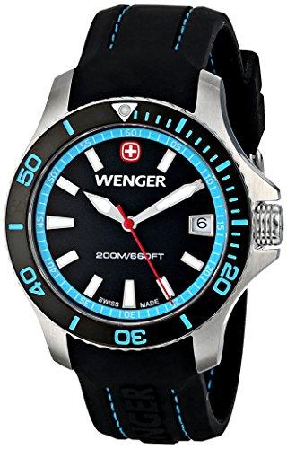 Wenger 010621105 Montre bracelet Femme, Silicone, couleur: noir