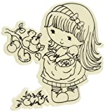 Little Darlings Scrumptious Penny CandiBean Cling Mounted Rubber Stamp, 3.25 by 3.134